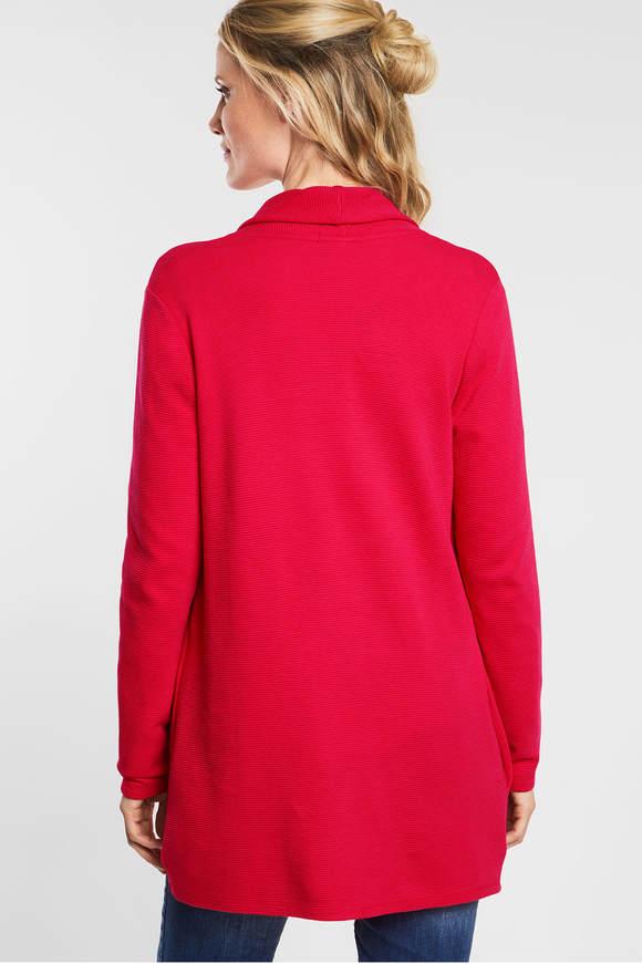 Cecil. Vest met structuur camellia rose