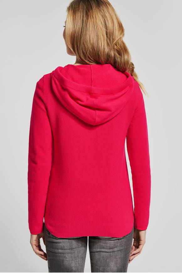 Cecil. Sportieve trui met hoodie camellia rose