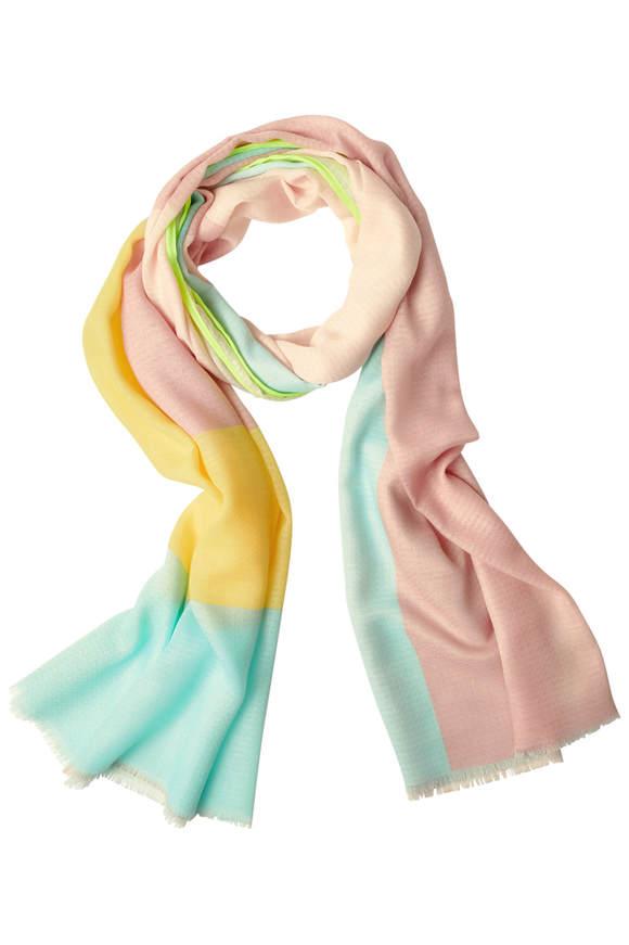 Foulard bloc coloré avec motif - neo mint