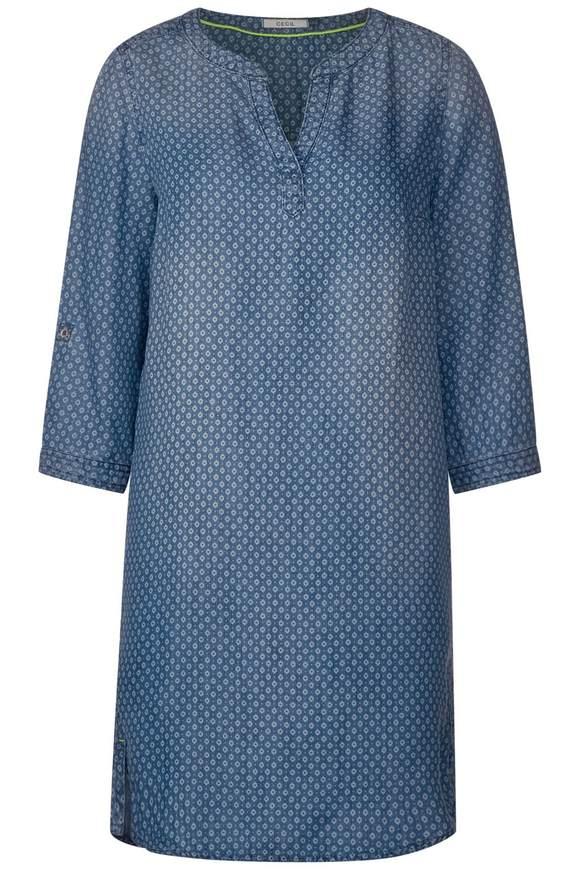 Lyocell Kleid mit Print - mid blue used wash
