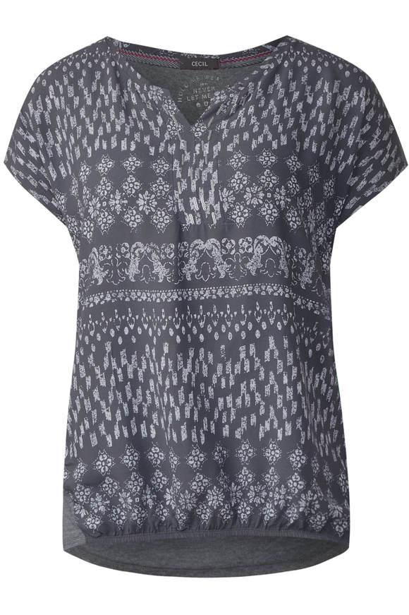 Shirt im Tunika Style - dark graphite grey
