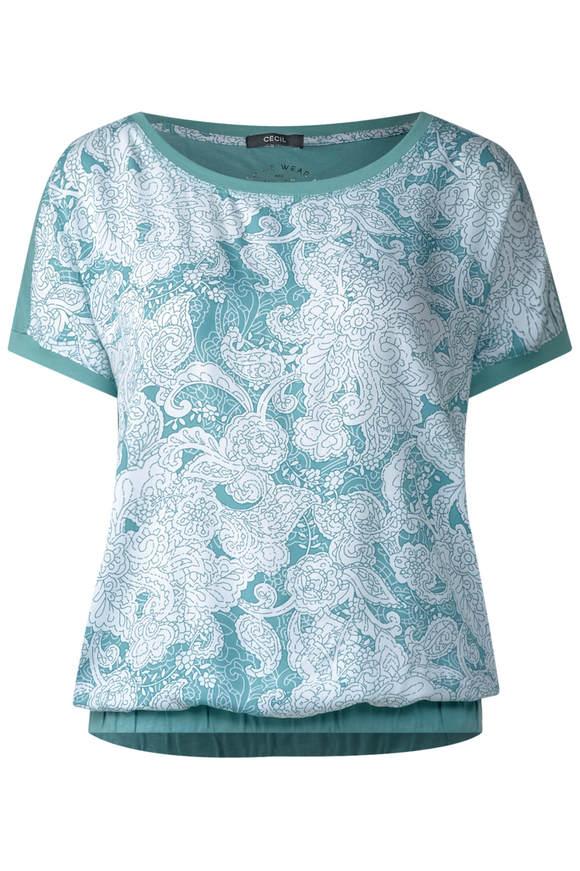 Oriental-Print Shirt Alara - gingermint grün