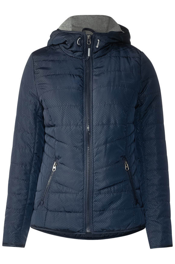 Jacke mit Shopping Bag - deep blau