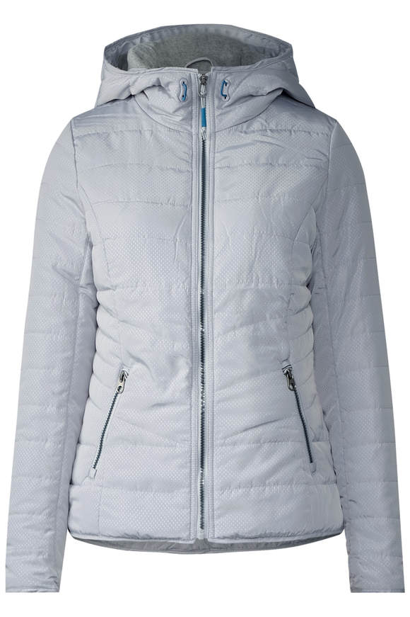 Jacke mit Shopping Bag - silver light grey