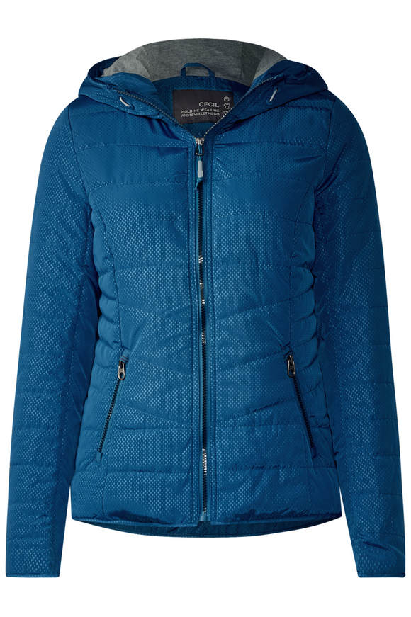 Jacke mit Shopping Bag - bright petrol blau