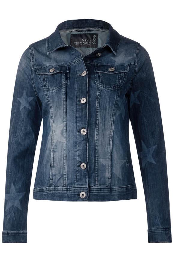 Veste en jean décontractée - mid bleu used wash
