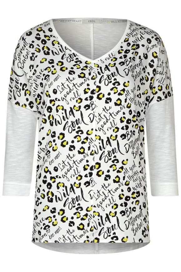 Chemise à motif léopard