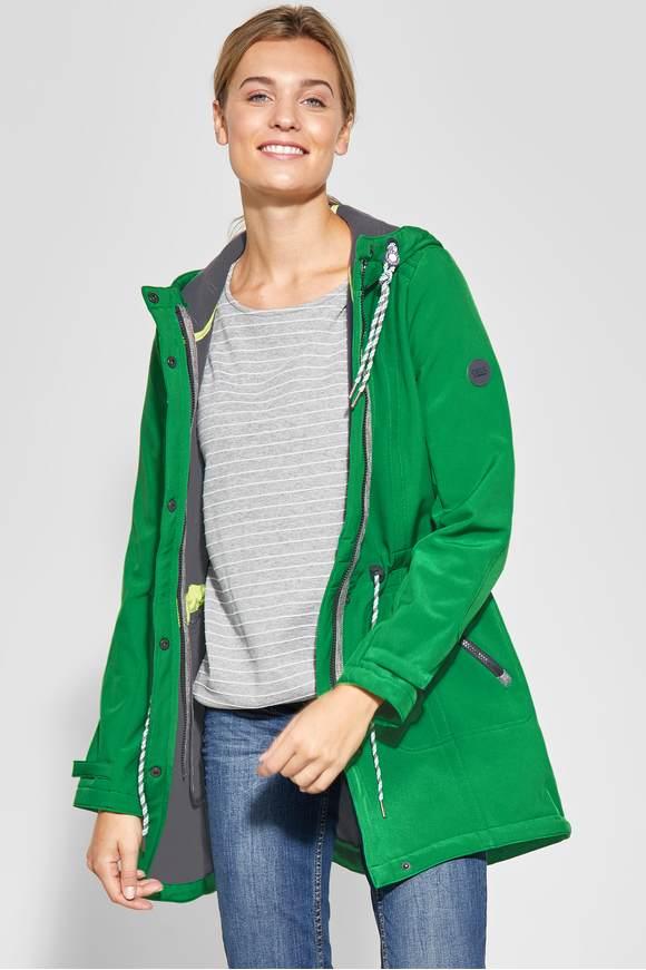 good texture half off cute Sportliche Softshell-Jacke - juicy green