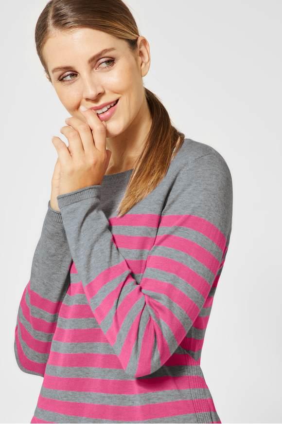 best price exclusive range good texture Streifen-Pullover - neon active pink