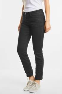 Black crinkle-jeans Scarlett