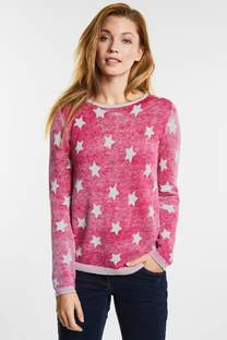 Inside-Out Print Pullover