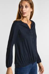 Luftige Materialmix Bluse