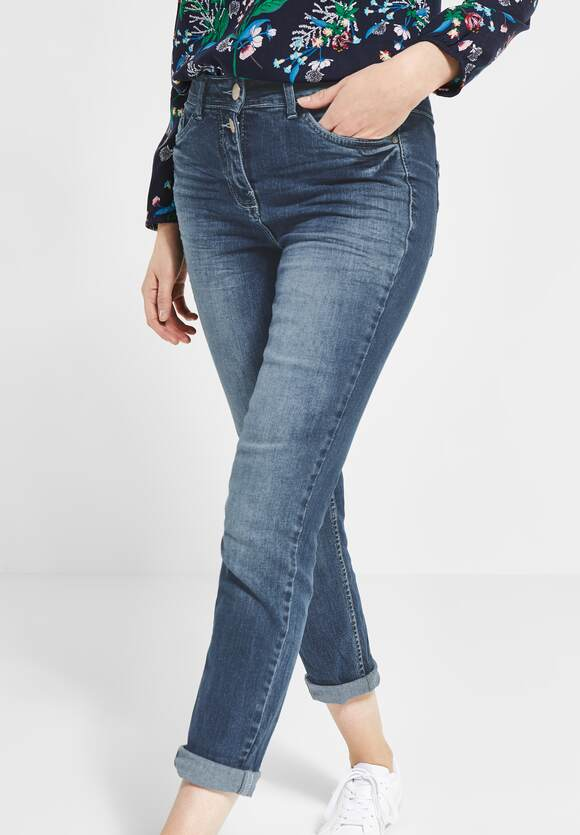 Tight Fit Jeans Toronto Mid Blue Used Wash