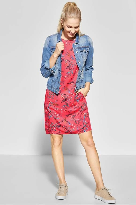 42397c1733008e Bloemenprint jurk Josefin - neo coralline red - CECIL Online-Shop