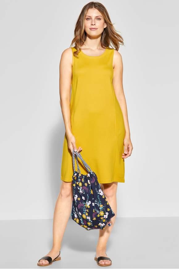67b2a97e86ea7c Mouwloze jersey-jurk - ceylon yellow - CECIL Online-Shop
