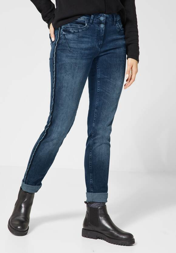 CECIL Slim Fit Denim Charlize mid blue used wash | CECIL Online Shop
