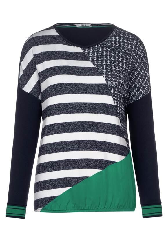 T-shirt avec motif patchwork