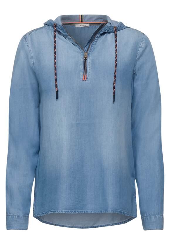 Hoodie blouse van tencel