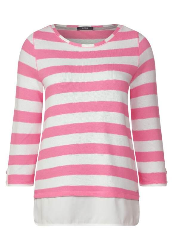 Streifenshirt Astrid in Bubblegum Pink CECIL