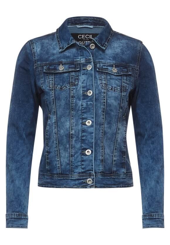 Veste en jean bleu moyen