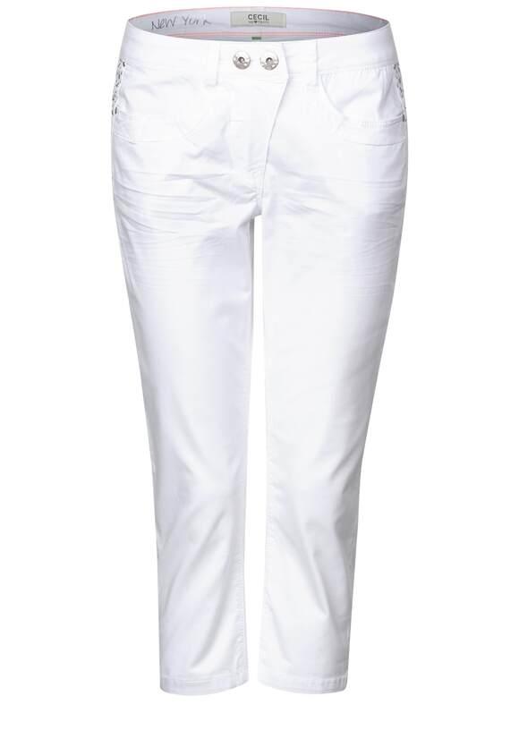 CECIL Dekorierte 78 Hose New York White   CECIL Online Shop