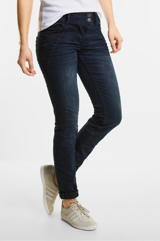 donkerblauwe jeans scarlett blue black used wash cecil online shop. Black Bedroom Furniture Sets. Home Design Ideas