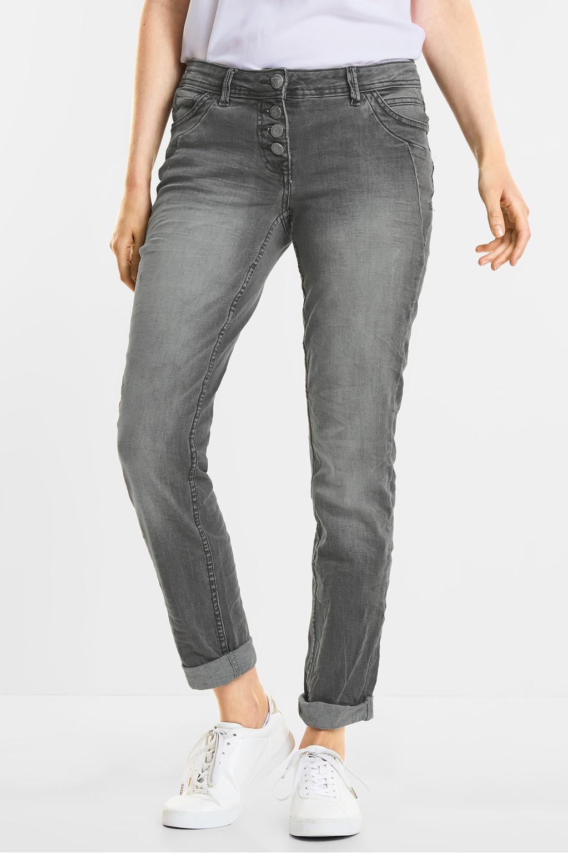 grijze jeans scarlett grey used wash cecil online shop. Black Bedroom Furniture Sets. Home Design Ideas